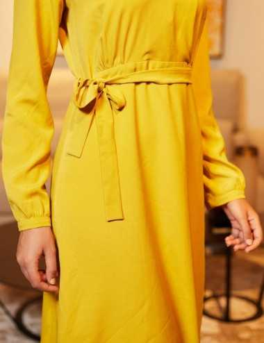 Zeineb Dress - Robe col V à...