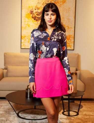 Lamis Skirt - Jupe droite rose