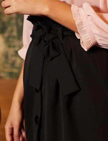 Tesnim Skirt Noire - Jupe...