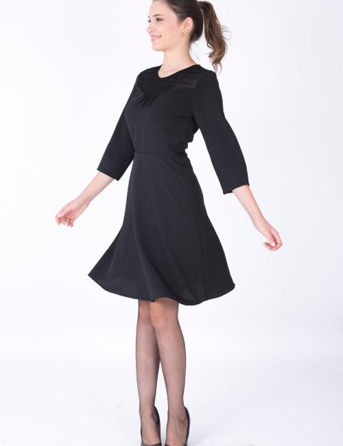 Petite robe noire manches 3/4